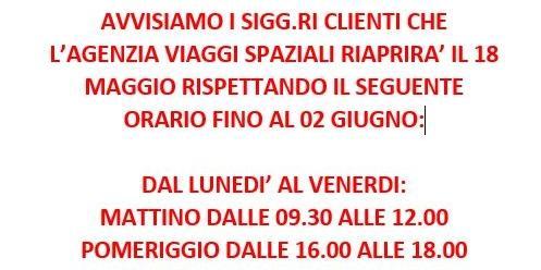 - orario Agenzia